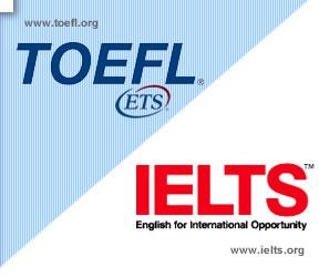 คะแนนสอบภาษาอังกฤษ TOEFL และ IELTS
